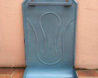 Vintage Enamelware, large Enamel Utensil enameled blue