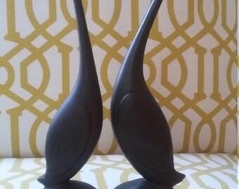 Rare Hallfield of California Pottery Swans