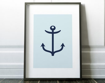 Home Decor Wall Art Prints Wall Decor Nautical Print Minimalist Poster Digital Print Nautical Art Modern Art Bathroom Print Wall Print