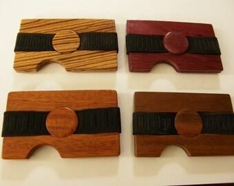 RFID Blocking Minimalist Wooden wallet