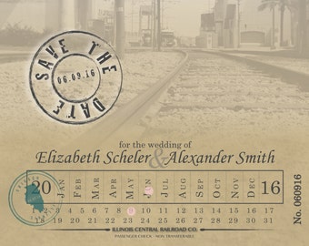 Train Ticket Save the Date - 250 Count