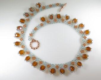 Pompon Fire Polished Czech Crystals Fashionable Stylish Necklace Lanyard
