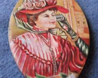 Vintage Coca Cola Pocket Mirror 1920's