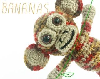 Handmade, Amigurumi, Crochet, Monkey, Kids, Plush, Soft Toy