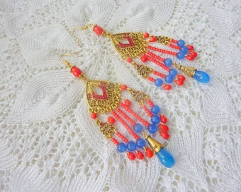 "Earrings ""Gold Fish"""