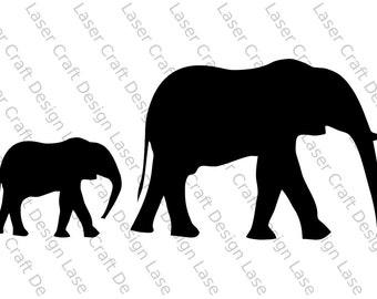 Elephants Stencil