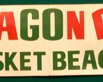1950's Paragon Park BUMPER STICKER