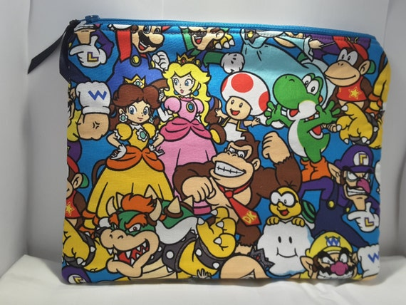 Super Mario and  friends bag, Mario and friends pouch, Nintiendo Mario & friends clutch