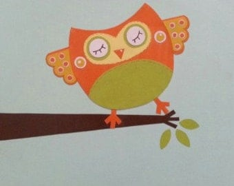 """Owl Collage - 9"""" x 12"""" Wall Hanging"""