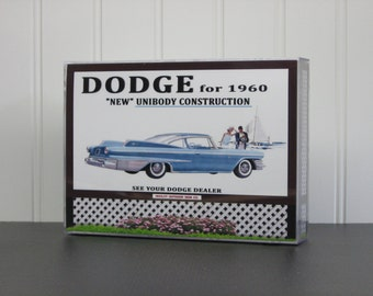 1960 Dodge Sign/vintage dodge brochure/dodge history /dodge polara/model car