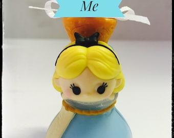 "Alice in Wonderland on a ""drink me"" bottle Tsum Tsum inspired ornament"
