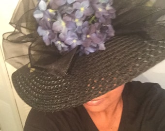 Stunning Derby hat, one of a kind