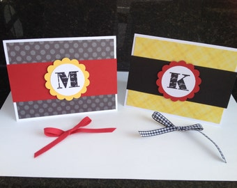 Disney Mickey Mouse Inspired Monogram Notecards