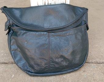 Vintage Faux Leather Hobo Bag