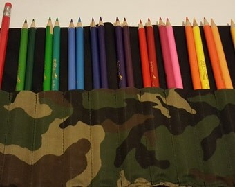 Camoflauge Colored Pencil Roll