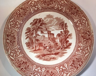 Edge Malkin and Co. Castle Gandolfo Italy plate 9.5""