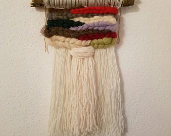 Roving Felt Wool Woven Wall Hanging   Woven Wall Art   Weave   Weaving