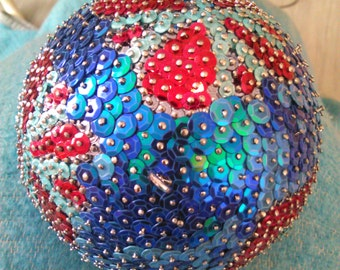 It's a handmade sequin decoration