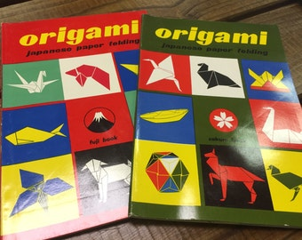 Set of 2 Japanese Origami books - 1st Editions/original paper pieces