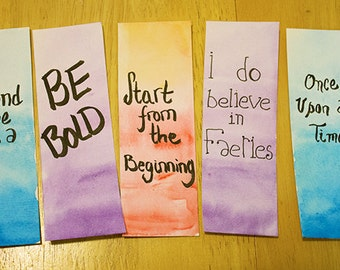 Water Color Bookmarks