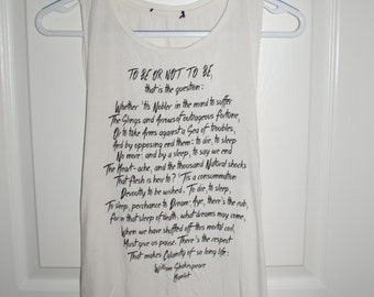 Shakespeare quote muscle tank