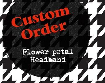 Custom Flower Petal Headband
