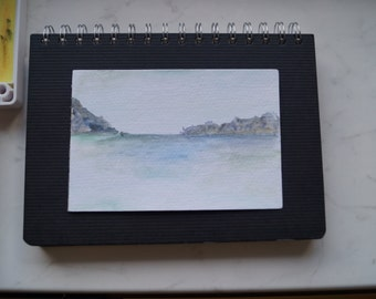 Original Hand-painted Watercolor Sea Painting