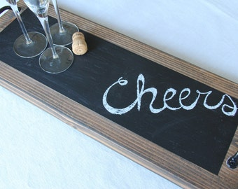 Chalkboard serving tray