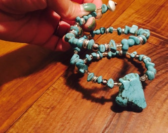 Turquoise wrap around bracelet