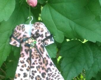 Minature Pink Leopard Party Dress