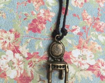 Antique Chair Pendant Necklace
