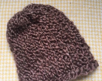 Ready to Ship! Brown baby boy crochet hat, newborn baby boy hat