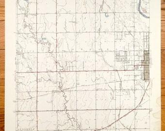 Antique Wichita Kansas 1943 Us Geological Survey Topographic Map Union Park Attica