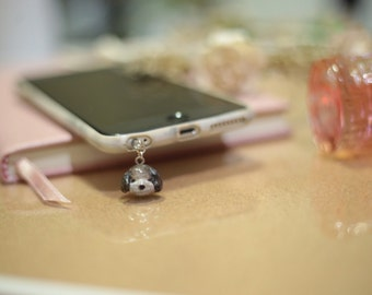 Little Dog Earphone Plug and Key Chain