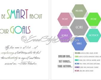 Smart Goals Planner Printable Workbook A5 PDF