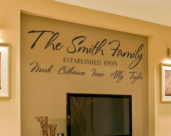 Personalized Family Name vinyl wall decal