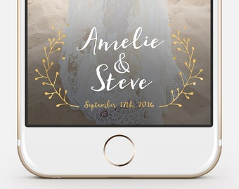 Snapchat Wedding Geofilter - fully customizable, instant delivery