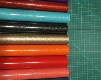 """12""""x15"""" inch sheets of Glitter Permanent Adhesive Vinyl  by TapeTech"""