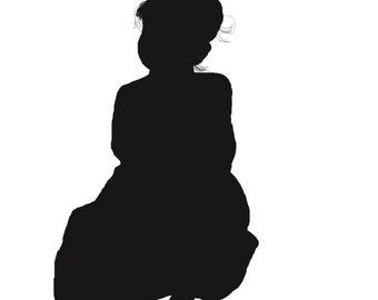 toddler girl sitting