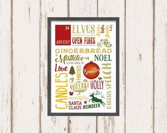 Christmas A4 print