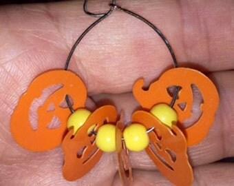 Free Shipping - Jack o' Lantern Clip-On Earrings