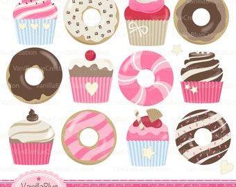 Clipart donuts, clipart cupcakes, clip art kitchen, clipart cakes, birthday cake