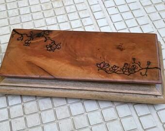 exoctic hardwood trinket box