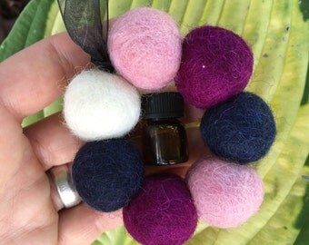 Cherry Tree Car Air Freshener Aromatheraphy (Essential Oil Diffuser) Wool Balls ~ Perfect Gift!