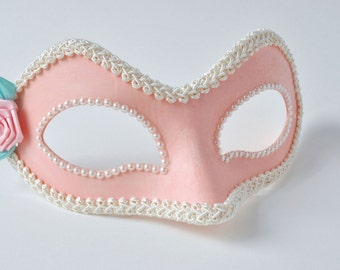 Pink Masquerade Mask!  Women's Mascarade Mask, Women Venetian Mask, Woman Mardi Gras Mask, Women's Masquerade - The Lucille