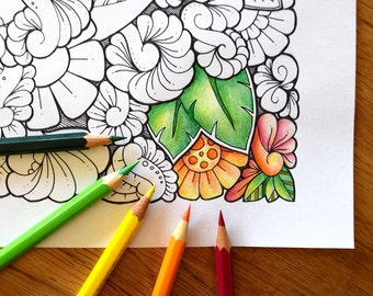 1 Coloring Pages (DIN A4) - Zentangle® Inspired Art