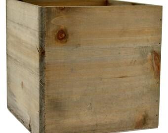 "Large Square Wooden Planter Box 7"""