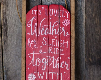 Sleigh Ride door hanging