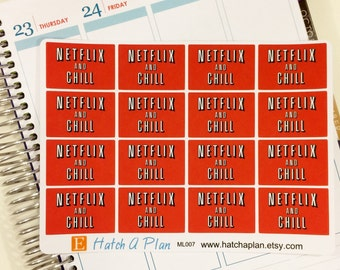 Netflix and Chill Planner Stickers | Great For Erin Condren Life Planner | Great For MAMBI Happy Planner | ML007