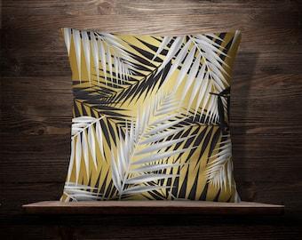 Tropical Decor   Palm Pillow   Palm Leaf Pillow   Island Decor   Tropical Pillow   Palm Pillow   Palm Leaf Print   Tropical Pillow Covers
